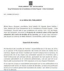 L'AFER ENTRA AL PARLAMENT A TRAVÉS DE LA CUP